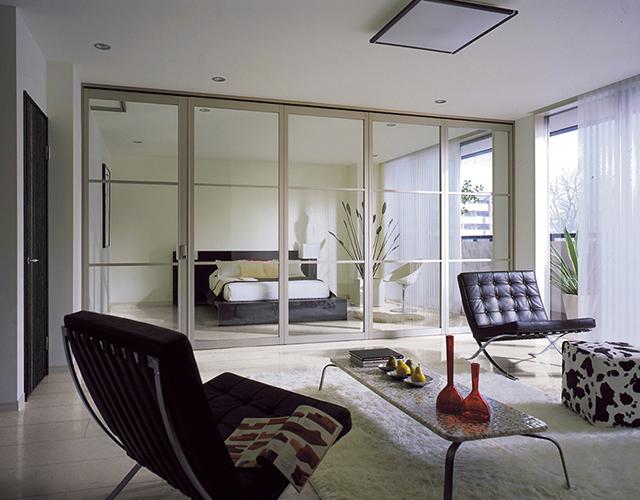 間仕切り戸の設置方法②ガラス戸で寝室をつくる